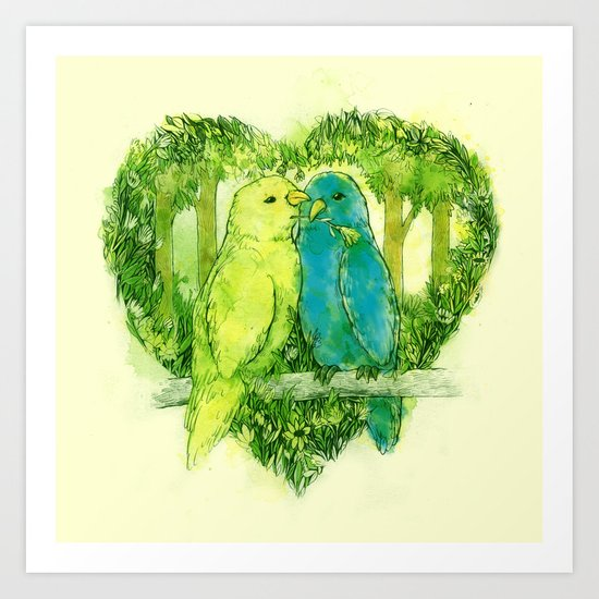 I Love You @Tweet Art Print