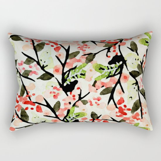 Watercolor Nature Pattern #society6 #decor #buyart Rectangular Pillow