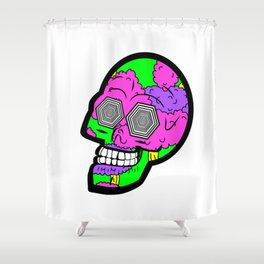 Psych Skull Shower Curtain