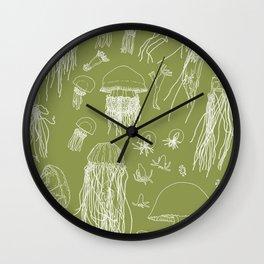 Jellies (Olive Green) Wall Clock
