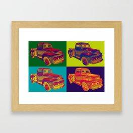 Colorful 1951 Ford F-1 Pickup Truck Pop Art  Framed Art Print