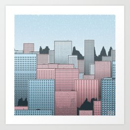 Generative Skyline 1 Art Print