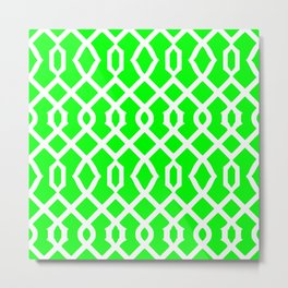 Grille No. 3 -- Lime Metal Print