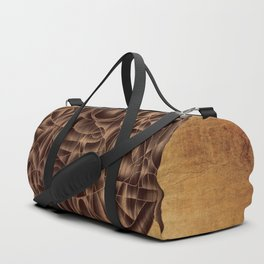 Abstract Wood Carving Pattern Duffle Bag