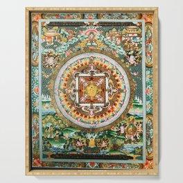 Buddhist Mandala White Tara Serving Tray