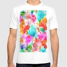 Koi Pond, Water Lilly Mens Fitted Tee White MEDIUM