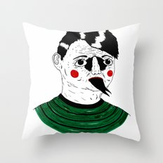 Snake Kid Throw Pillow
