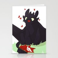 toothless Stationery Cards featuring Toothless by Flora