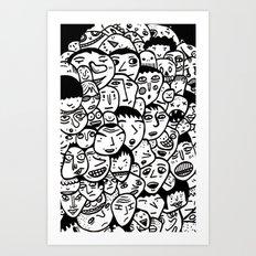 Friendly Faces  Art Print