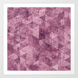 Abstract Geometric Background #28 Art Print