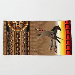 War Horse Beach Towel
