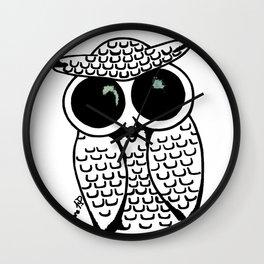 Big Eyed Owl Wall Clock