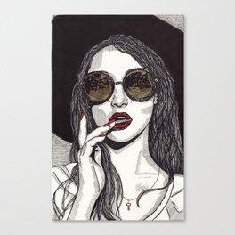 Rose Gold Galsses Canvas Print