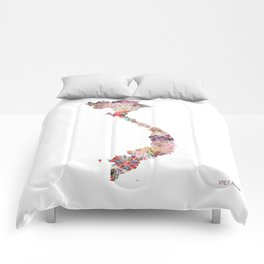 Vietnam map Comforters