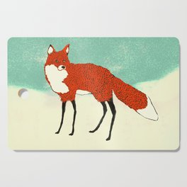 Fox in the snow, Kitsune, Vintage inspired illustration Cutting Board