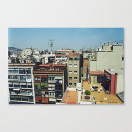 Roofs of Barcelona Canvas Print