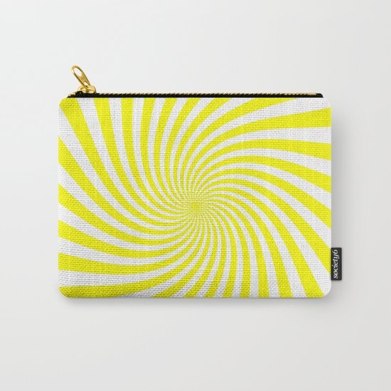 Swirl (Yellow/White) Carry-All Pouch
