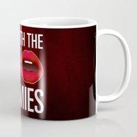 lipstick Mugs featuring Lipstick by Kris Hawkins