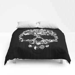 Floral Skull Comforters