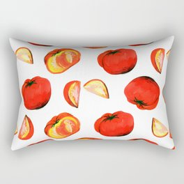 red tomato Rectangular Pillow