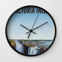 Visit Victoria Falls Wall Clock