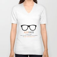 alex vause V-neck T-shirts featuring Alex Vause #2 | Connection | OITNB by Sandi Panda