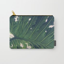 Tropical Leaf Underside Carry-All Pouch