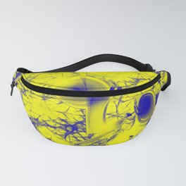 Storm brewing in alien blue and yellow Fanny Pack