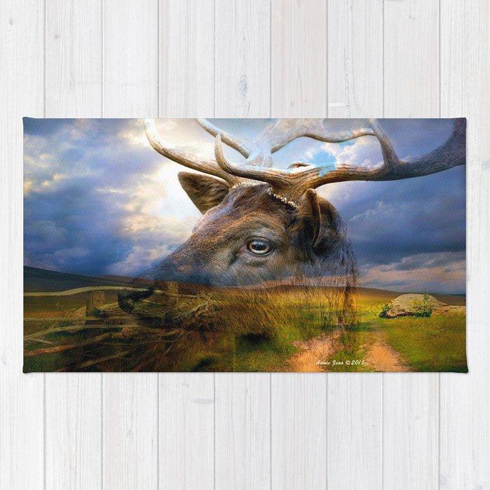 Fallow Deer In Wilderness Rug
