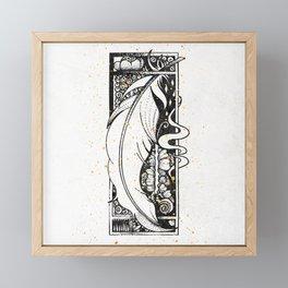 Wing Feather Inktober :: Bronzed Angels Barefoot Framed Mini Art Print