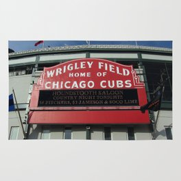Chicago Wrigley Field Sign Rug
