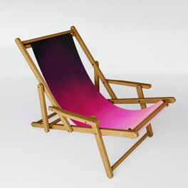 Purple and Black Abstract Sling Chair