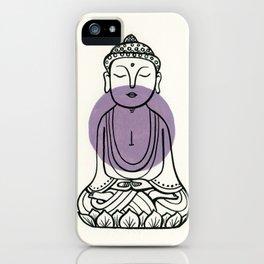 Purple Buddha iPhone Case