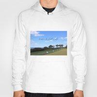 golf Hoodies featuring Golf by Rebecca Bear