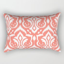 Ikat Damask Coral Rectangular Pillow