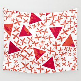 Shapes in Nature : Red Wall Tapestry