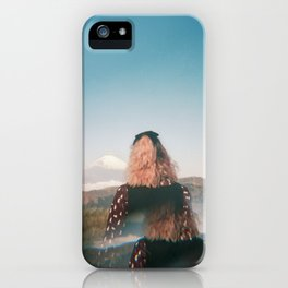 Girl Looking Out at Mount Fuji - Holga film photograph iPhone Case