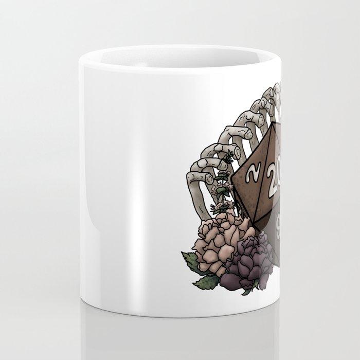Skeleton D20 Tabletop RPG Gaming Dice Coffee Mug