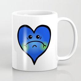 Sad Blue Heart Coffee Mug
