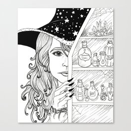 Apothecary Witch Canvas Print