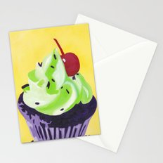 Green Cupcake Stationery Cards
