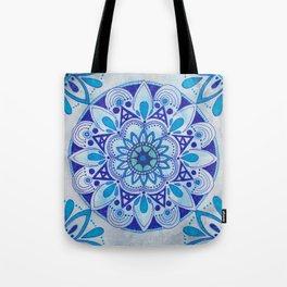 Simpe Blue Mandala Tote Bag
