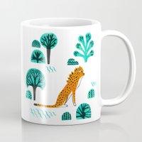 jaguar Mugs featuring  Jaguar by Hui_Yuan-Chang