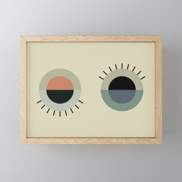 day eye night eye Framed Mini Art Print