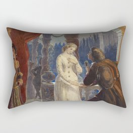 Vintage Romeo and Juliet Painting (1861) Rectangular Pillow