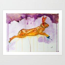 Running for life Art Print
