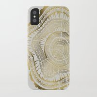 india iPhone & iPod Cases featuring Gold Tree Rings by Cat Coquillette