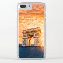 Sunset  Arc de Triomphe Clear iPhone Case