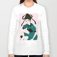 champagne Long Sleeve T-shirts featuring Charlemagne Champagne by Caitlin Shearer