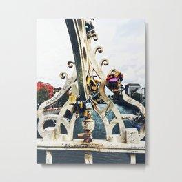 Love Locks on the Ha'penny Bridge Metal Print